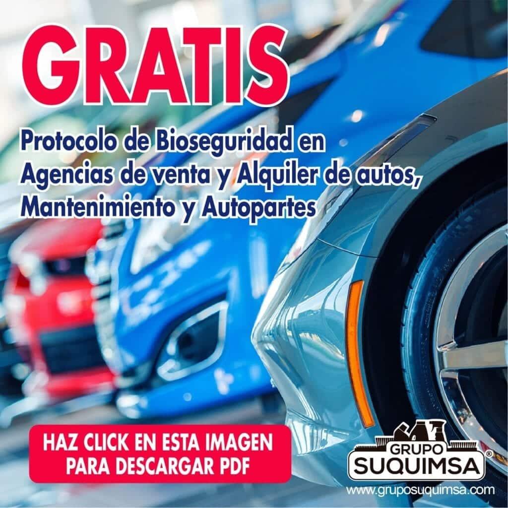 Protocolo de Bioseguridad Agencias de venta y Alquiler de autos
