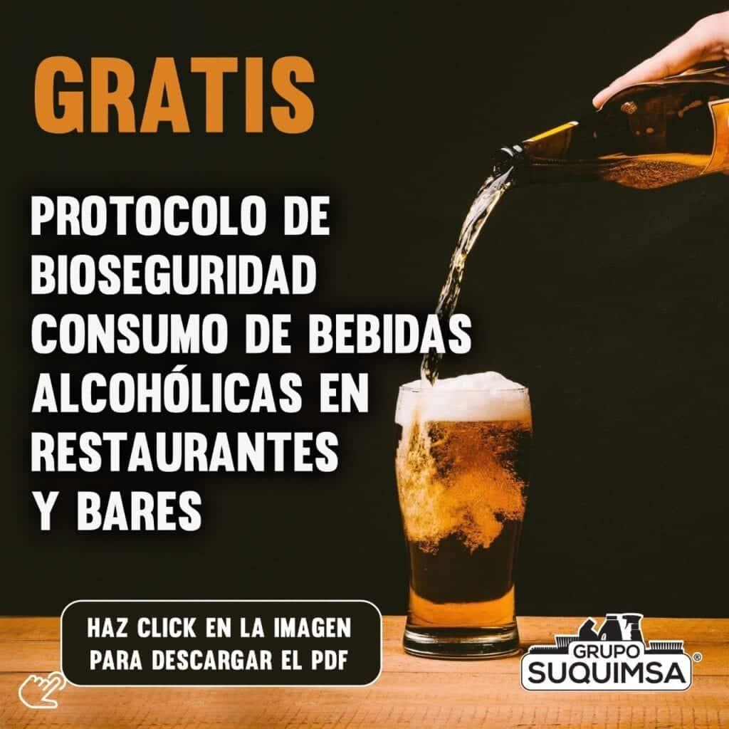 Protocolo de Bioseguridad para bebidas alcohólicas restaurantes-bares