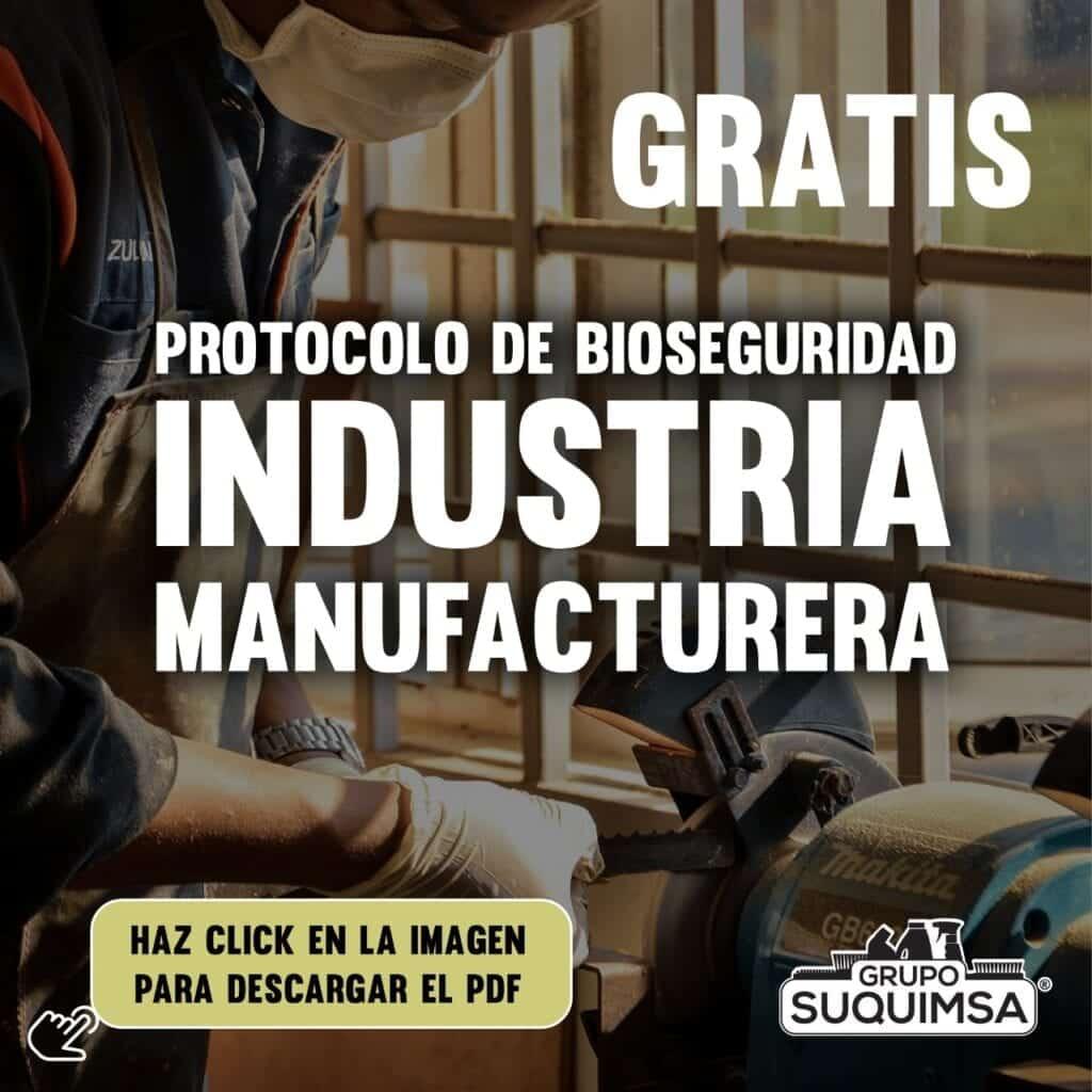 Protocolo de Bioseguridad para industria manufacturera