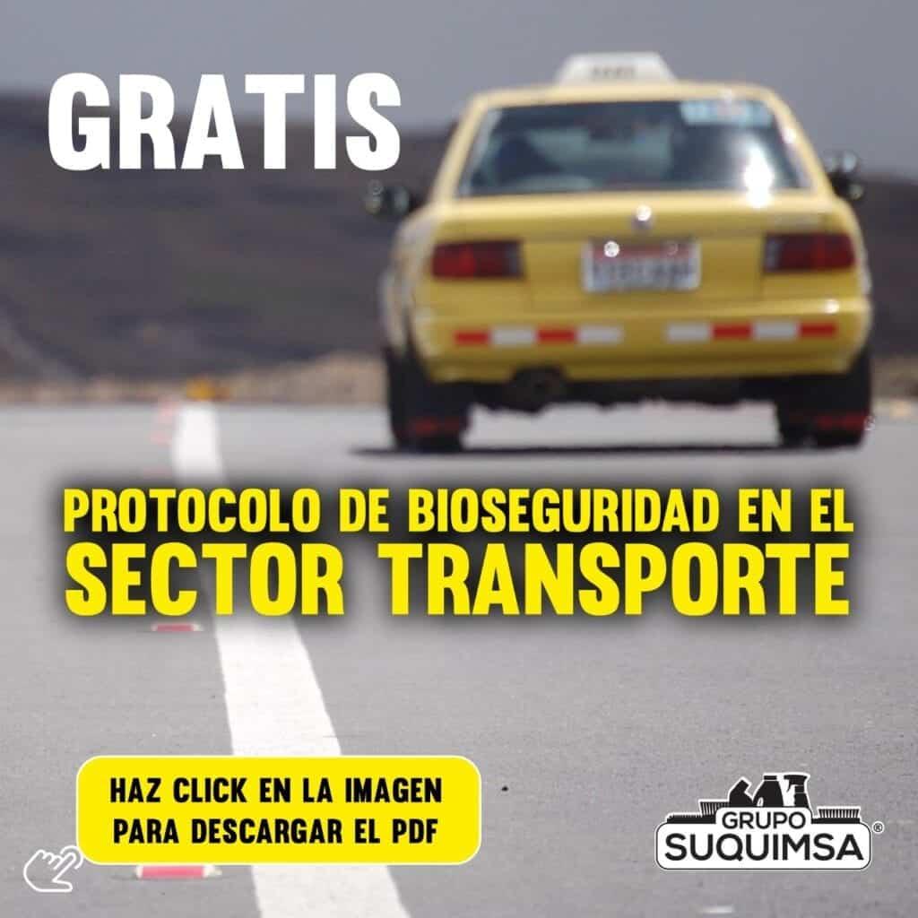 Protocolo de Bioseguridad para Sector transporte