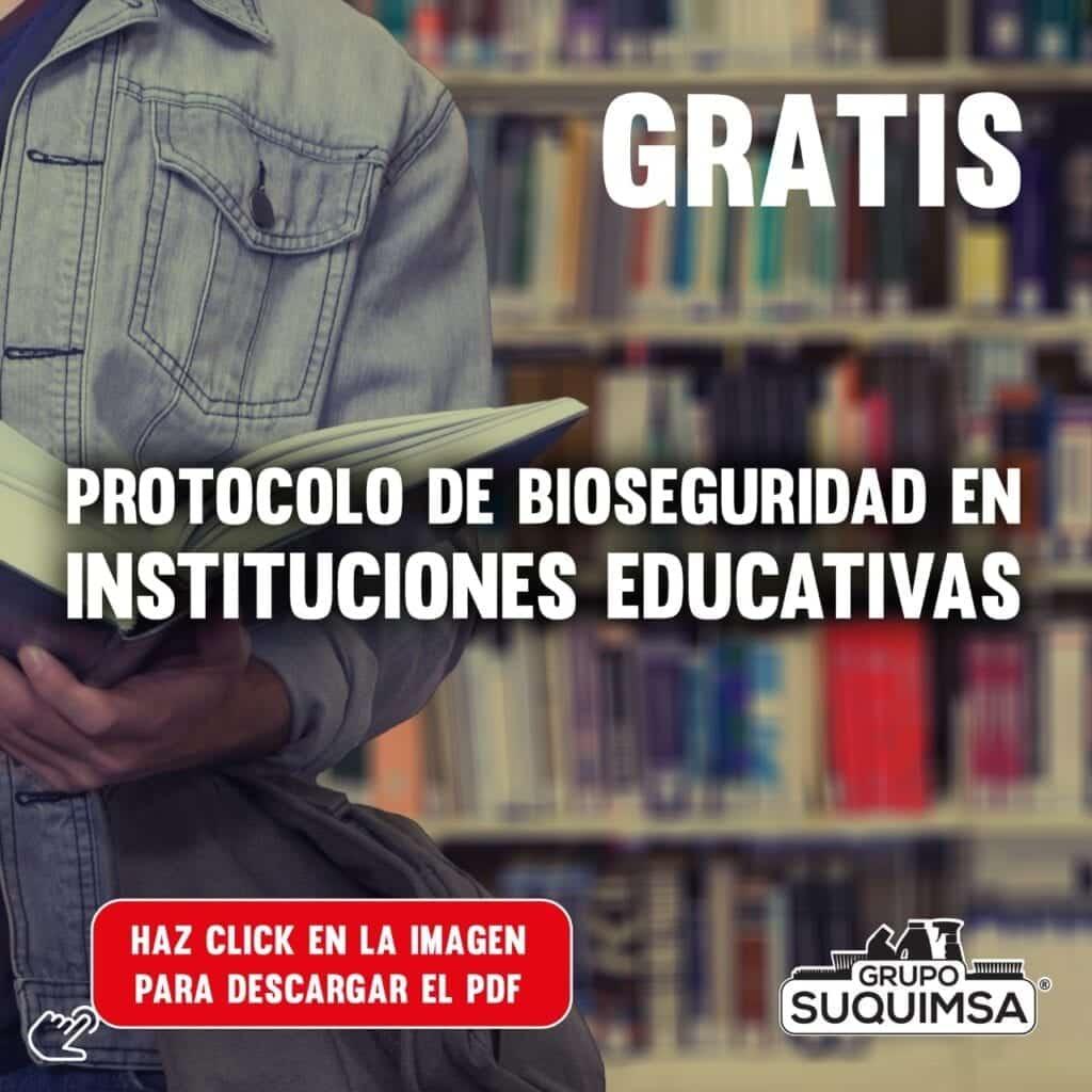 Protocolo de Bioseguridad para Instituciones educativas